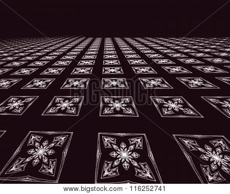 Abstract digitally generated image tiled floor