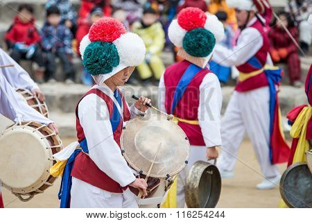 Korean Folk Dancers and Musicians