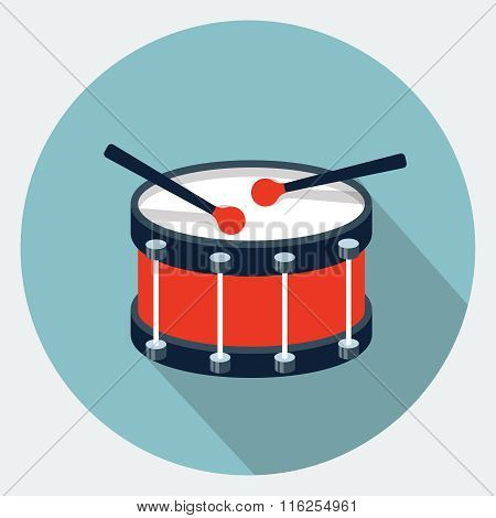 Vector drum flat icon