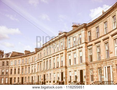 Terraced Houses Vintage