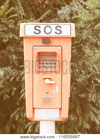 An Sos Sign Vintage