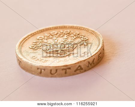British Pound Coin Vintage