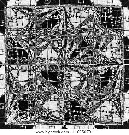 Geometric Ethnic Seamless Pattern Mosaic