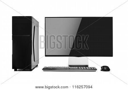 Desktop computer isolated.