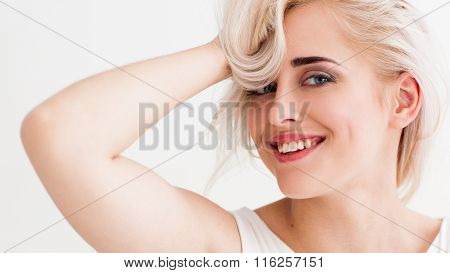 Laughing Blonde Have Fun