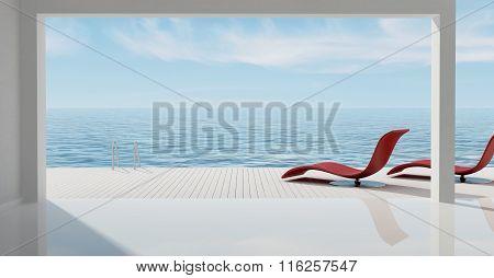 Minimalist Sea House