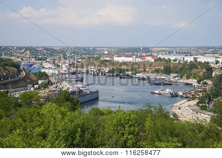 View of the South Bay city of Sevastopol july day. Crimea
