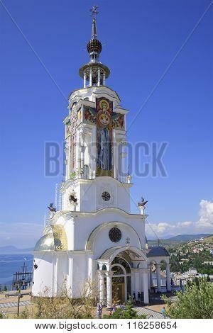 The temple Beacon St. Nicholas of Myra in Malorechenskoye. Crimea