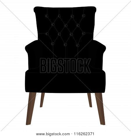 Modern Black Armchair