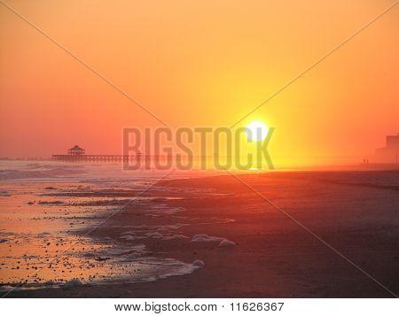 Sunset on Folly Beach, SC