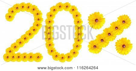 Figures 20% Of The Letters Written By Flowers