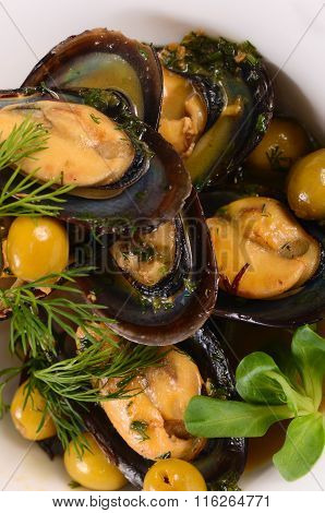 Mussels In The Shell With Sauce