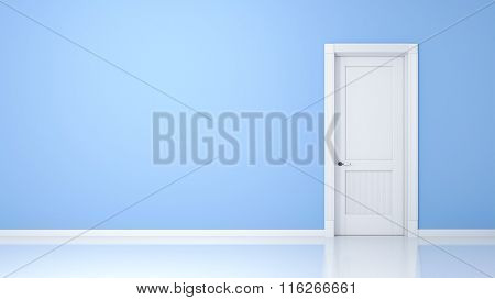 A wall and a door in an empty flat with space for your content