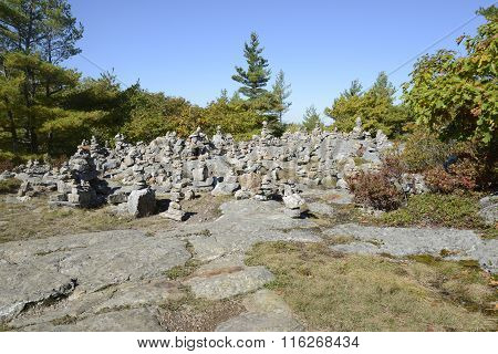 Small Towers Of Stones