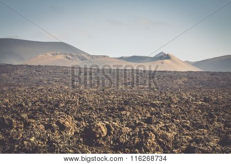 National Park Timanfaya On The Island Of Lanzarote, Canary Islands, Spain