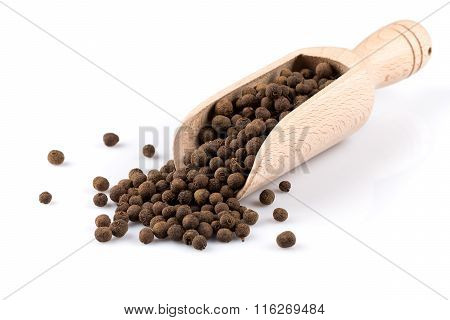 Wooden Shovel With Black Peppercorn