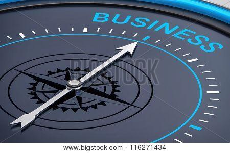 3D Compass. Business Word