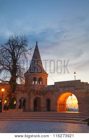 Fisherman Bastion In Budapest, Hungary