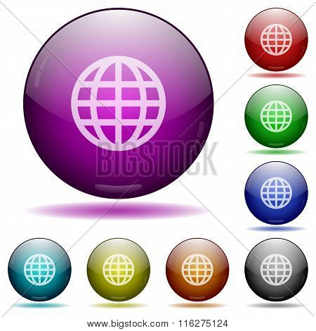 Globe Glass Sphere Buttons
