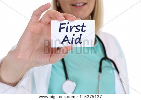 First Aid Help Helping Cpr Doctor Nurse Medical Accident