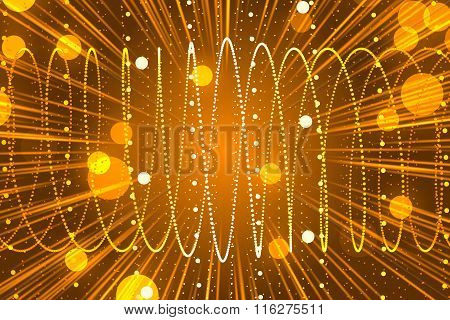 Orange Abstract Background And Particle