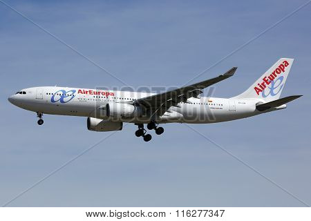 Air Europa Airbus A330-200 Airplane Madrid Airport