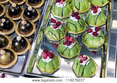 Display Of Mignon Little Pastries