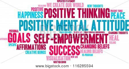 Positive Mental Attitude Word Cloud