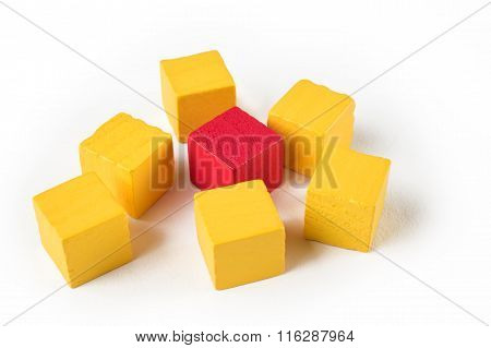 Red and yellow mini blocks