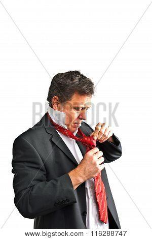 Business Man Holding A Speach