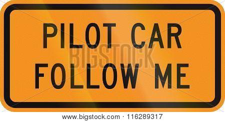 United States Mutcd Road Sign - Pilot Car