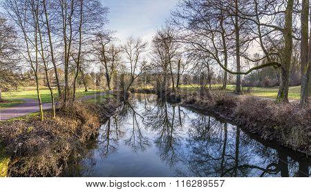 River Ilm In The Goethe Park In Weimar