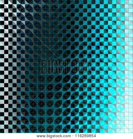 Blue Pixels Abstract Geometric Background Vector Illustration