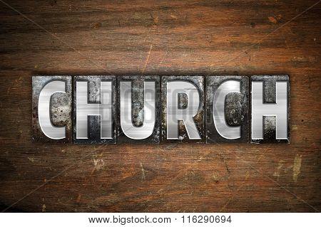 Church Concept Metal Letterpress Type