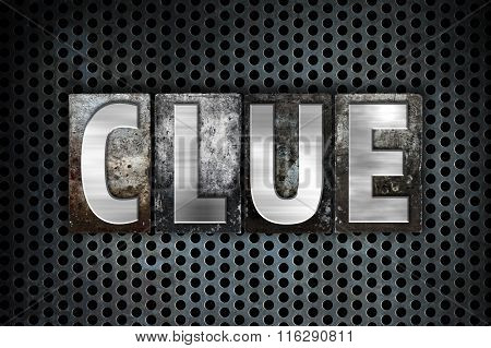 Clue Concept Metal Letterpress Type