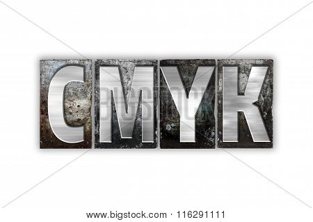 Cmyk Concept Isolated Metal Letterpress Type