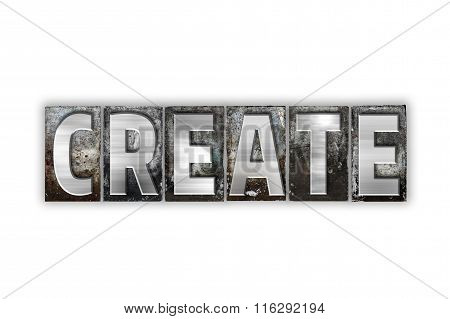 Create Concept Isolated Metal Letterpress Type