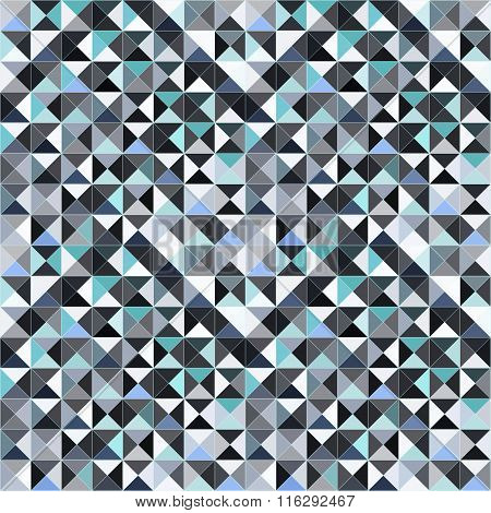 Small Pixels Abstract Geometric Seamless Pattern Vector Illustration