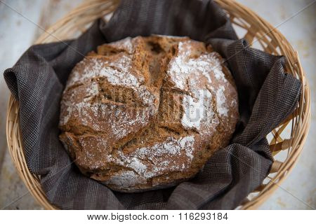 Close up of traditional whole grain bread