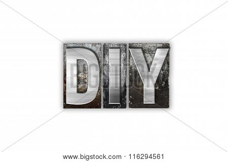 Diy Concept Isolated Metal Letterpress Type