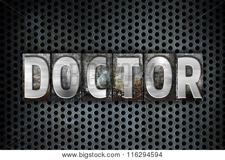 Doctor Concept Metal Letterpress Type