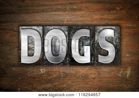 Dogs Concept Metal Letterpress Type