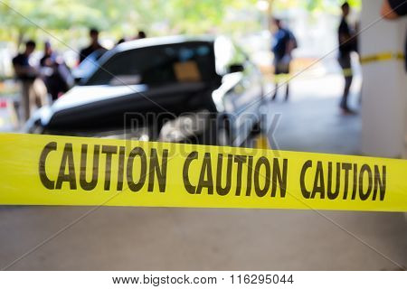 Caution Tape  For Crime Scene
