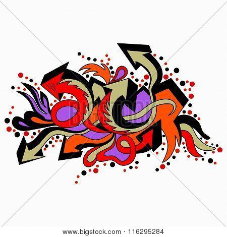 Graffiti Colored Arrows On A White Background