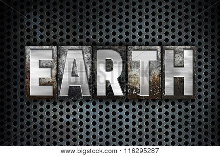 Earth Concept Metal Letterpress Type
