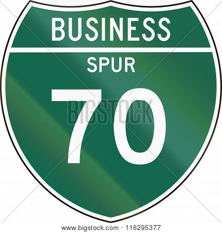 United States Mutcd Road Sign - Business Spur
