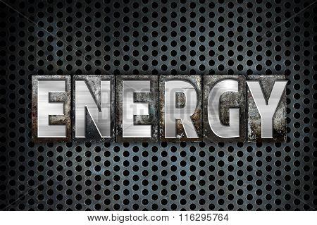 Energy Concept Metal Letterpress Type