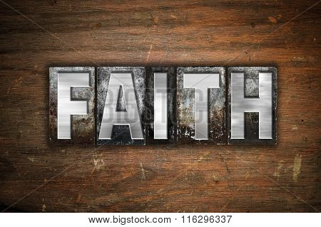 Faith Concept Metal Letterpress Type