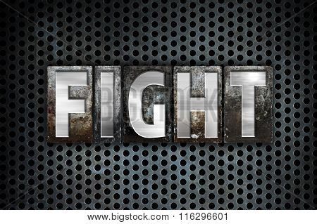 Fight Concept Metal Letterpress Type