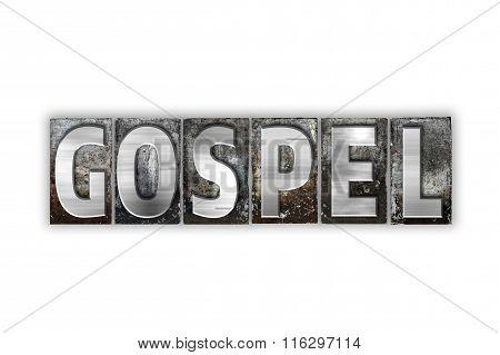 Gospel Concept Isolated Metal Letterpress Type
